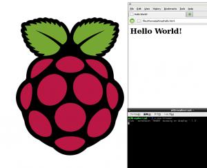 Hello World - HTML on midori